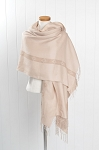 Pashmina  CREAM stripe