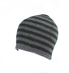 Mens Knit Striped Hat