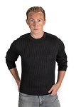 Ribbed Sweater - Black