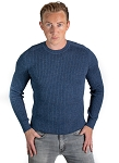 Ribbed Sweater - Denim Blue