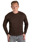 36615 - Ribbed Sweater - Brown