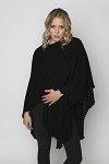 Links Knit Shawl Black