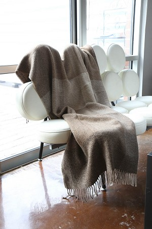 Plaid Blanket - Brown