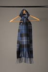Brushed Scarf  Plaid Blue