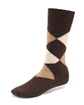 Brown - Argyle Dress Socks