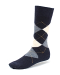 Navy - Argyle Dress Socks
